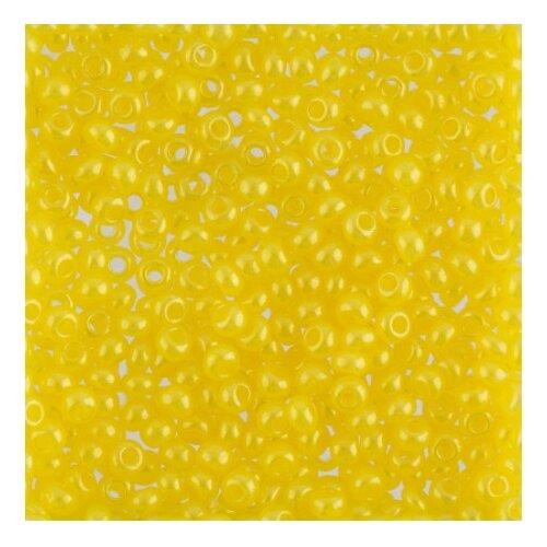 Бисер круглый 1 10/0 Gamma, 50 грамм, цвет: A021 желтый (17186)
