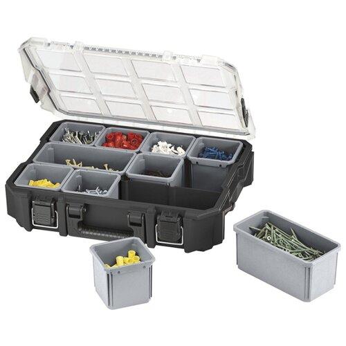 Органайзер KETER Compartment Pro Organizer 10 (17201702) 46.2x36x11 см серый хозяйственный блок keter oakland 7511 серый 17201421