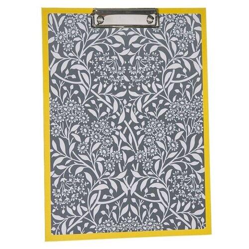You'll love Папка-планшет для бумаг Цветочная зебра белый/серый/желтый