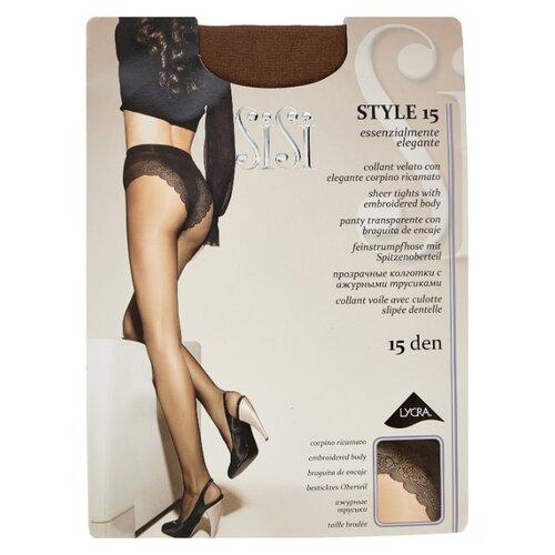Фото - Колготки Sisi Style 15 den, размер 4-L, naturelle (коричневый) колготки sisi miss 40 den размер 4 l naturelle коричневый