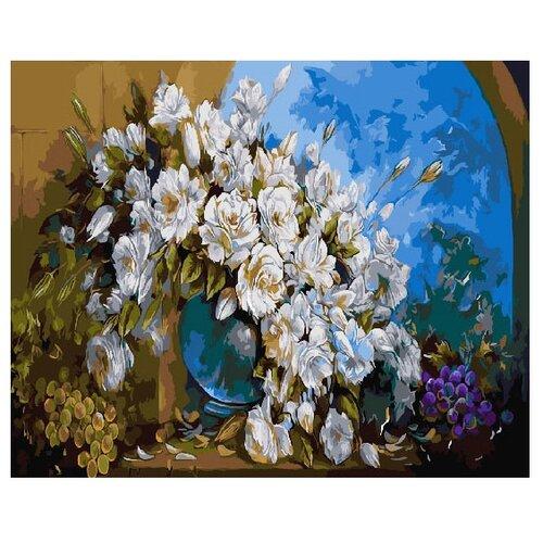 "ВанГогВоМне Картина по номерам ""Букет белых цветов"", 40х50 см (ZX 22080)"