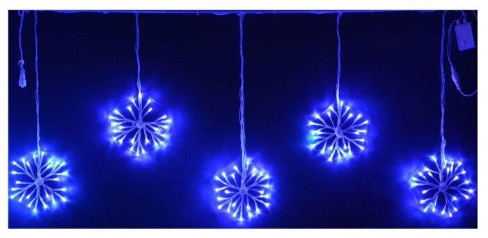 Светодиодные подвески Снежинки 3x0.7 м синий, с контроллером, соединяемые