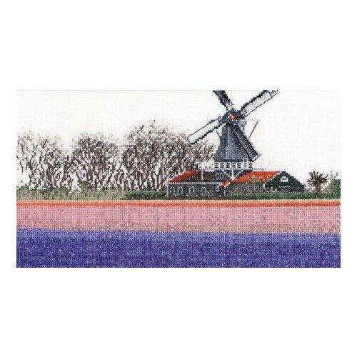 Купить Набор для вышивания Поля гиацинтов, канва лён 36 ct, Thea Gouverneur, Наборы для вышивания