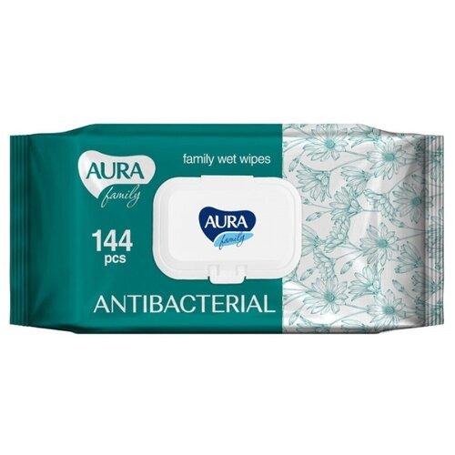 Фото - Влажные салфетки Aura Family антибактериальные, 144 шт. aura 111