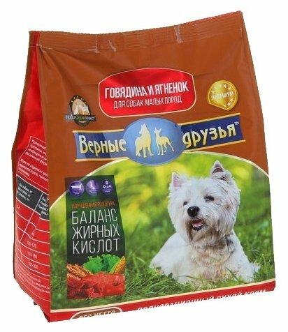 Корм для собак Верные друзья Сухой для собак мелких пород - Говядина и ягненок
