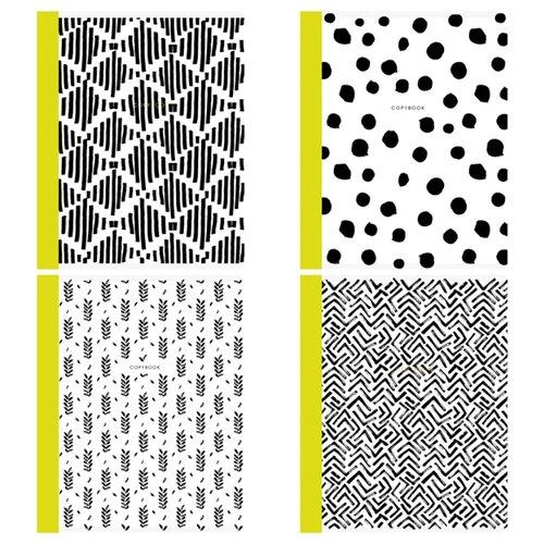 Купить Greenwich Line Упаковка тетрадей Contrast scandy N5c48-26466, 5 шт./4 дизайна, клетка, 48 л., Тетради