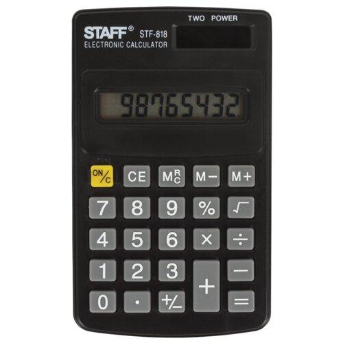 Калькулятор карманный STAFF STF-818 черный