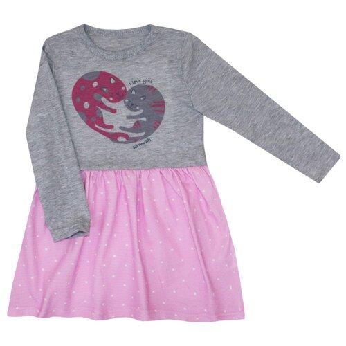 Платье KotMarKot размер 116, розовый