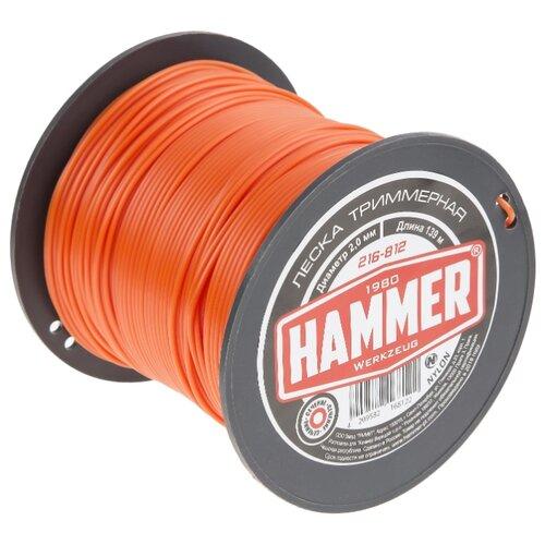Леска Hammer 216-812 2 мм 139 м hammer 216 804 2 4 мм 15 м