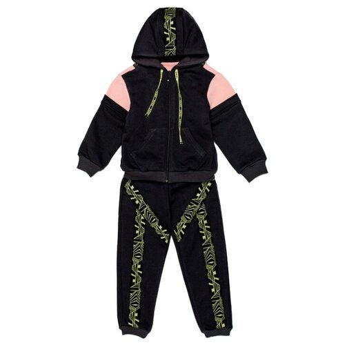 Спортивный костюм ЁМАЁ размер 116, графит/фламинго