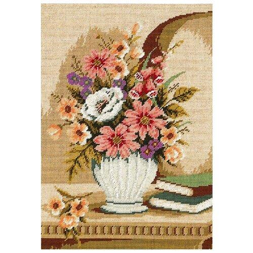Schaefer Набор для вышивания гобелена Ваза с цветами 35 x 50 см (411/50) schaefer набор для вышивания 9 x 12 см 460 12
