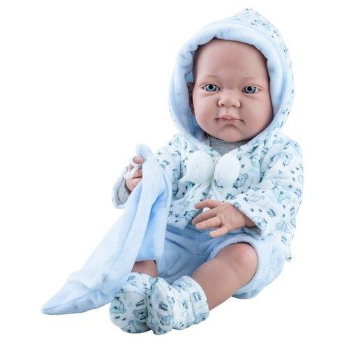 Фото - Кукла Paola Reina Бэби с голубым слюнявчиком, 36 см, 5027 кукла paola reina елена 21 см 02101