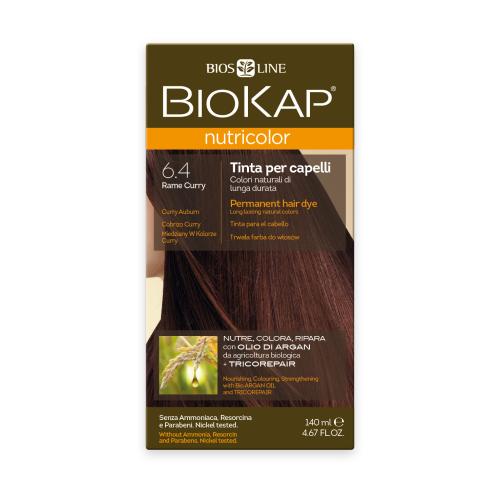 BioKap Nutricolor крем-краска для волос, 6.4 медно-золотистый карри