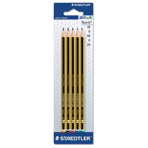 Купить Staedtler набор карандашей чернографитных Noris 5 штук (120-S BK5D), Карандаши
