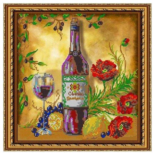 Светлица Набор для вышивания бисером Красное вино 27 х 27 см, бисер Чехия (543)