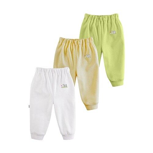Купить Брюки Наша мама Be Happy 17089 размер 74, белый/желтый/салатовый, Брюки и шорты