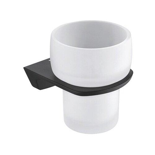 Стакан для зубных щеток WasserKRAFT Elbe K-7228 белый/черный