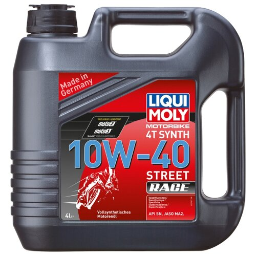 Моторное масло LIQUI MOLY Motorbike 4T Synth Street Race 10W-40 4 л