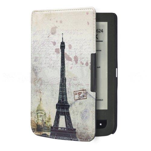 Чехол-футляр MyPads для PocketBook 624 Basic Touch / PocketBook 614 Basic 2/ 615 / 625 LE / 625 Basic Touch 2 необычный с красивым рисунком тематика Париж
