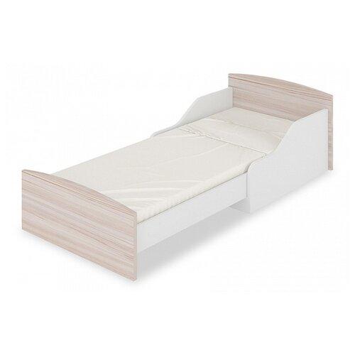 Кровать-трансформер детская Мэрдэс Кровать-трансформер КТД, раздвижная, каркас: ЛДСП, цвет: белый/карамель