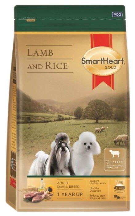 Корм для собак SmartHeart ягненок с рисом 3 кг (для мелких пород)