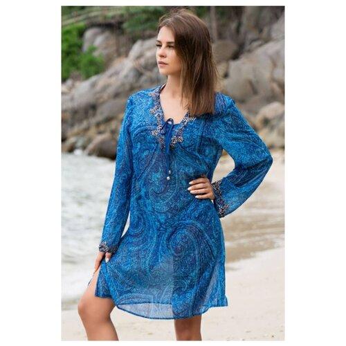 Пляжная туника MIA-AMORE Riviera 8254 размер XXL синий