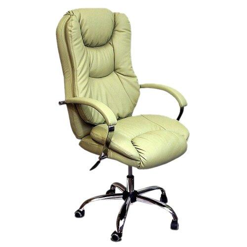 цена на Компьютерное кресло Креслов Лорд КВ-15-131112 для руководителя, обивка: искусственная кожа, цвет: Santorini 0416