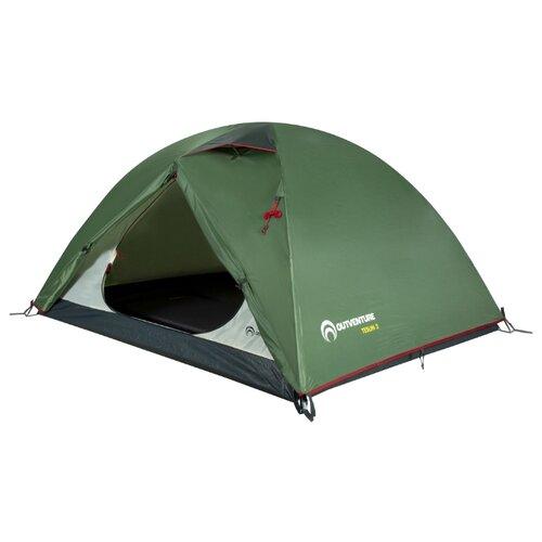Палатка OUTVENTURE Teslin 3 темно-зеленый outventure гамак outventure