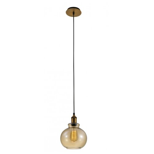 Светильник Crystal Lux OLLA SP1 AMBER, E27, 60 Вт светильник crystal lux lux new sp1 c smoke g9 60 вт