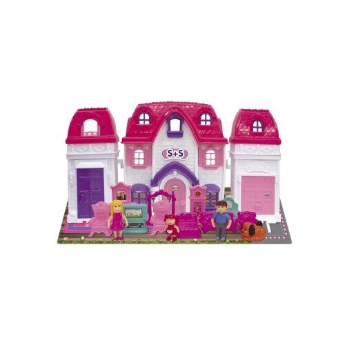 Купить S+S Toys кукольный домик 100697130, бело-розовый, Кукольные домики
