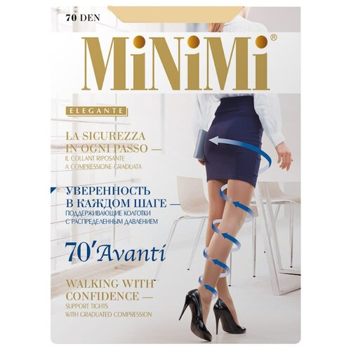 Колготки MiNiMi Avanti 70 den, размер 5-XL, caramello (бежевый) колготки minimi avanti 40 den размер 5 xl caramello бежевый