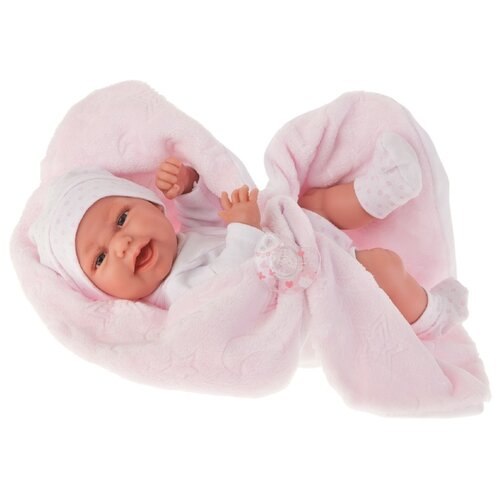 Кукла Antonio Juan Фатима на розовом одеяльце, 33 см, 6026P