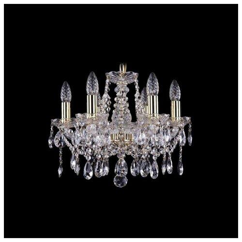 Люстра Bohemia Ivele Crystal 1413/6/141/G, E14, 240 Вт люстра bohemia ivele crystal 1413 1413 6 141 g leafs e14 240 вт