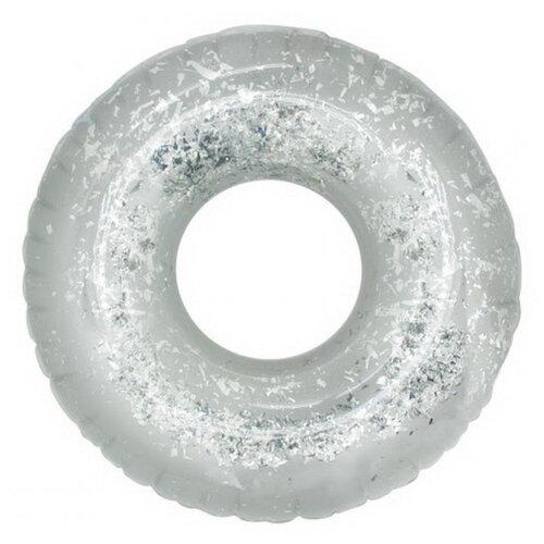 Круг Digo с глиттером 109x109 см серебряный