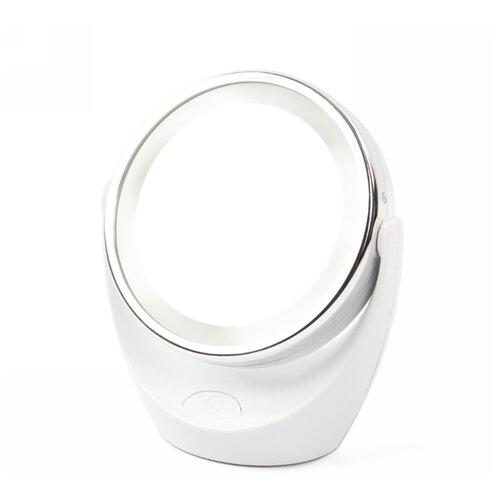 Зеркало косметическое настольное MARTA MT-2648 с подсветкой белый жемчуг зеркало косметическое настольное marta mt 2653 с подсветкой молочный жемчуг