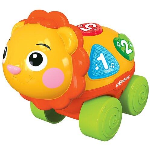Развивающая игрушка Азбукварик Музыкальная каталочка Львенок оранжевый азбукварик часики азбукварик мой львенок