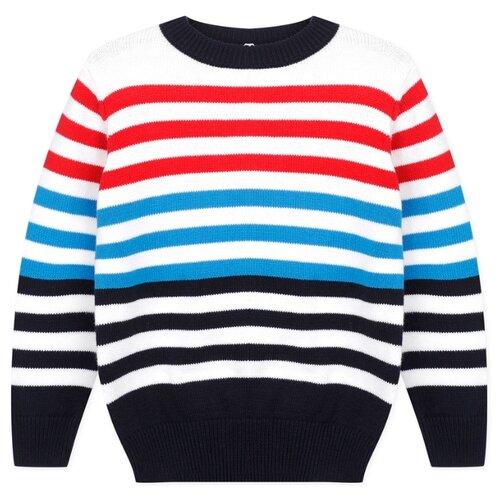 Купить Джемпер playToday размер 116, белый/синий, Свитеры и кардиганы