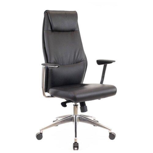 Компьютерное кресло Everprof London для руководителя, обивка: искусственная кожа, цвет: черный