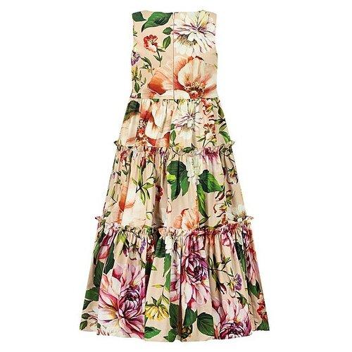 Платье DOLCE & GABBANA размер 152, розовый/цветочный принт