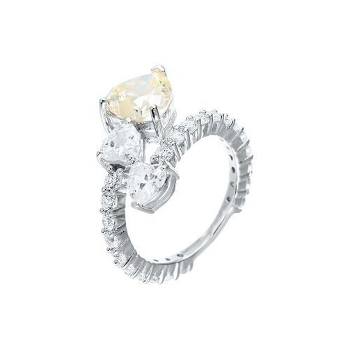 Фото - JV Кольцо с фианитами из серебра SR-B02455C1-KO-001-WG, размер 17 jv кольцо с фианитами из серебра sr b02197c ko 001 wg размер 17 5