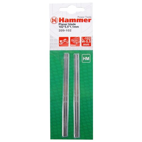 цена на Набор ножей для электрорубанка Hammer 209-102 (2 шт.)
