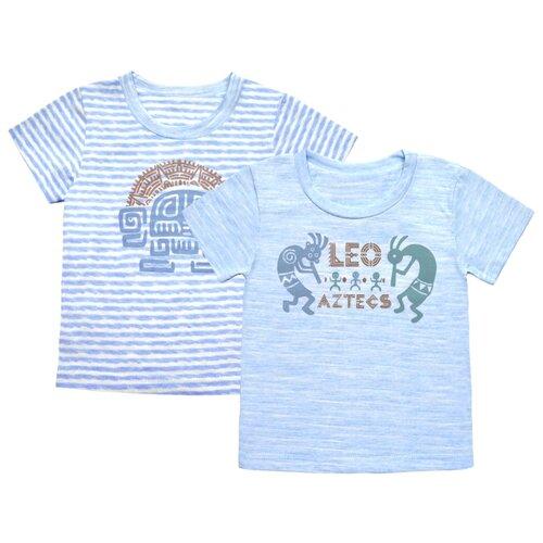 Купить Футболка LEO размер 86, голубой, Футболки и рубашки