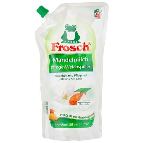 Концентрированный ополаскиватель для белья Миндальное молочко Frosch 1 л пакет концентрированный ополаскиватель для белья лаванда frosch 0 75 л флакон