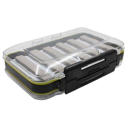 Коробка для приманок для рыбалки Namazu N-BOX16 15х10х4.5 см черный/серый