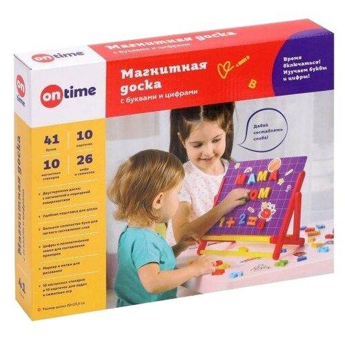 Купить Доска для рисования детская On Time двусторонняя (45014) красный/желтый, Доски и мольберты