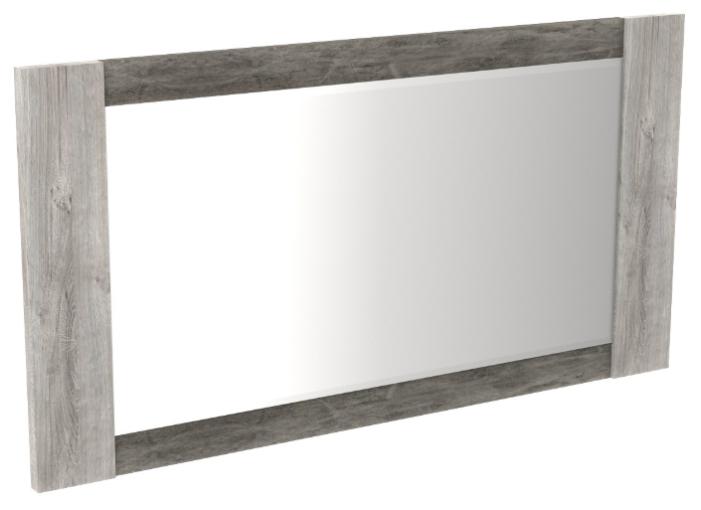 Купить Зеркало СБК Денвер 96х50 см риббек серый/камень темный в раме по низкой цене с доставкой из Яндекс.Маркета