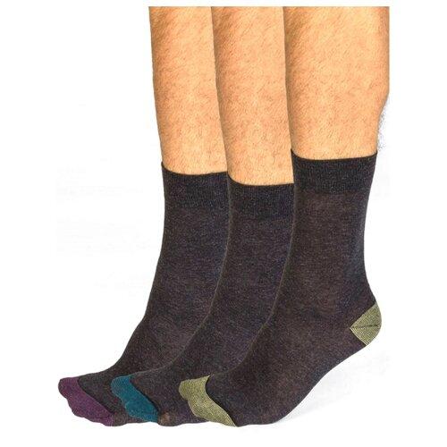 Носки DIM 06KL, 3 пары, размер 43-46, антрацит носки dim 06kl 3 пары размер 43 46 черный