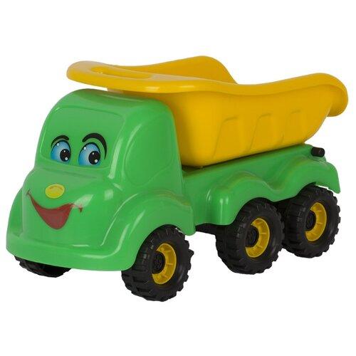 Купить Грузовик СТРОМ Мамонтенок (У441) 30 см зеленый/желтый, Машинки и техника