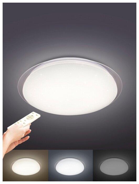 Купить Светодиодный потолочный светильник - люстра с пультом SATURN 60W (эффект звездное небо) по низкой цене с доставкой из Яндекс.Маркета