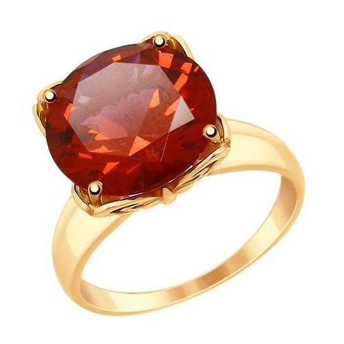 SOKOLOV Кольцо из золота с красным ситаллом 714933, размер 17.5 фото